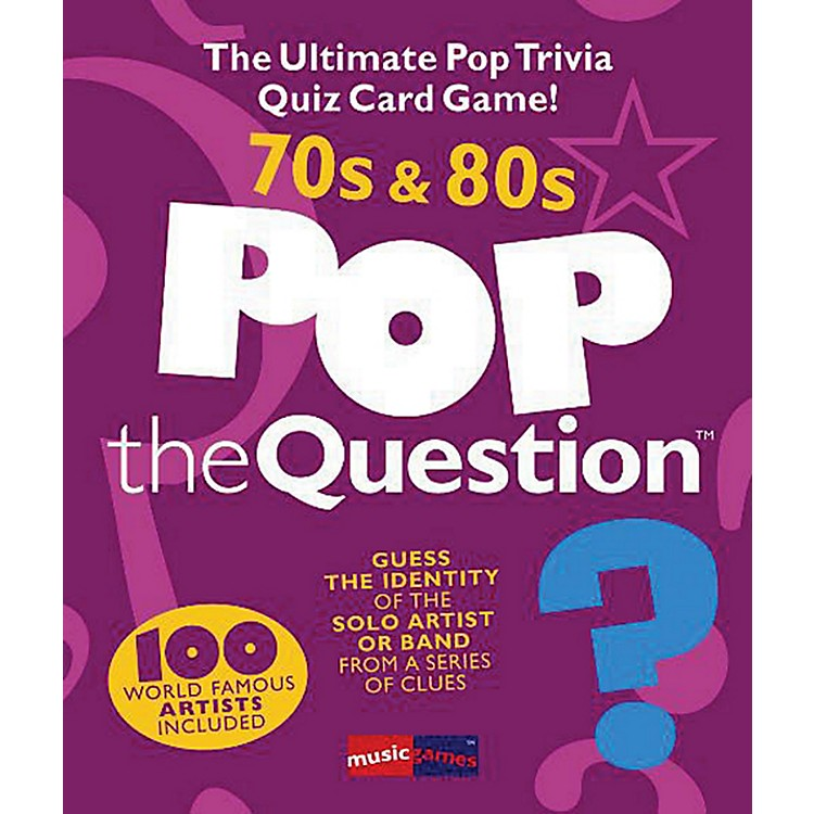 Music Sales Pop The Question 70's & 80's - The Ultimate Pop Trivia Quiz Card Game