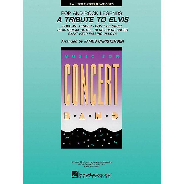 Hal LeonardPop and Rock Legends: A Tribute to Elvis Concert Band Level 4 by Elvis Arranged by James Christensen