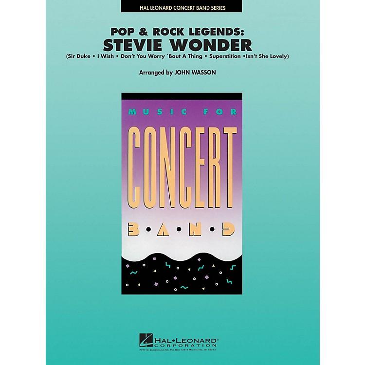 Hal LeonardPop and Rock Legends: Stevie Wonder Concert Band Level 4-5 Arranged by John Wasson