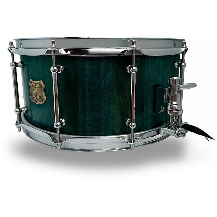 OUTLAW DRUMS Poplar Stave Snare Drum with Chrome Hardware 14 x 6.5 in. Emerald Cove
