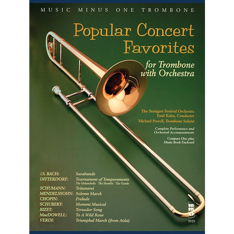 Music Minus OnePopular Concert Favorites Music Minus One Series Softcover with CD Composed by Various