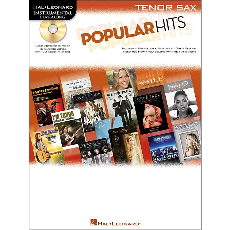 Hal Leonard Popular Hits For Tenor Sax - Instrumental Play-Along Book/CD