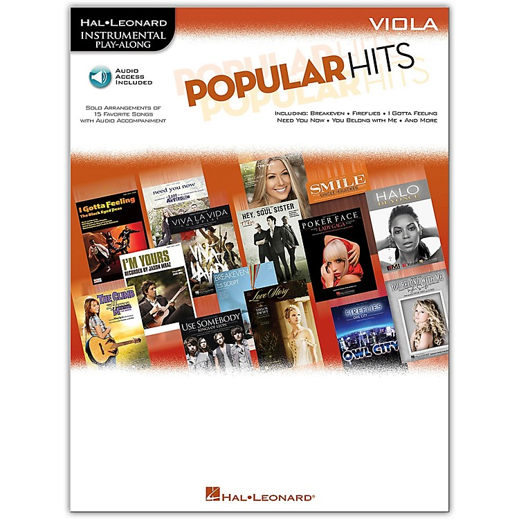 Hal Leonard Popular Hits For Viola - Instrumental Play-Along Book/Online Audio