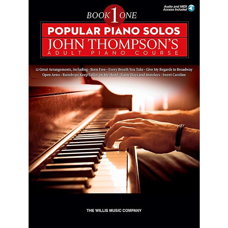 Hal LeonardPopular Piano Solos - John Thompson's Adult Piano Course Book 1 Book/Audio Online