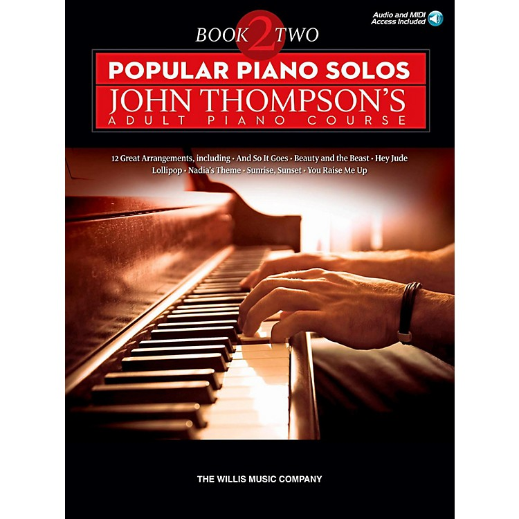 Hal Leonard Popular Piano Solos - John Thompson's Adult Piano Course Book 2 Book/Audio Online