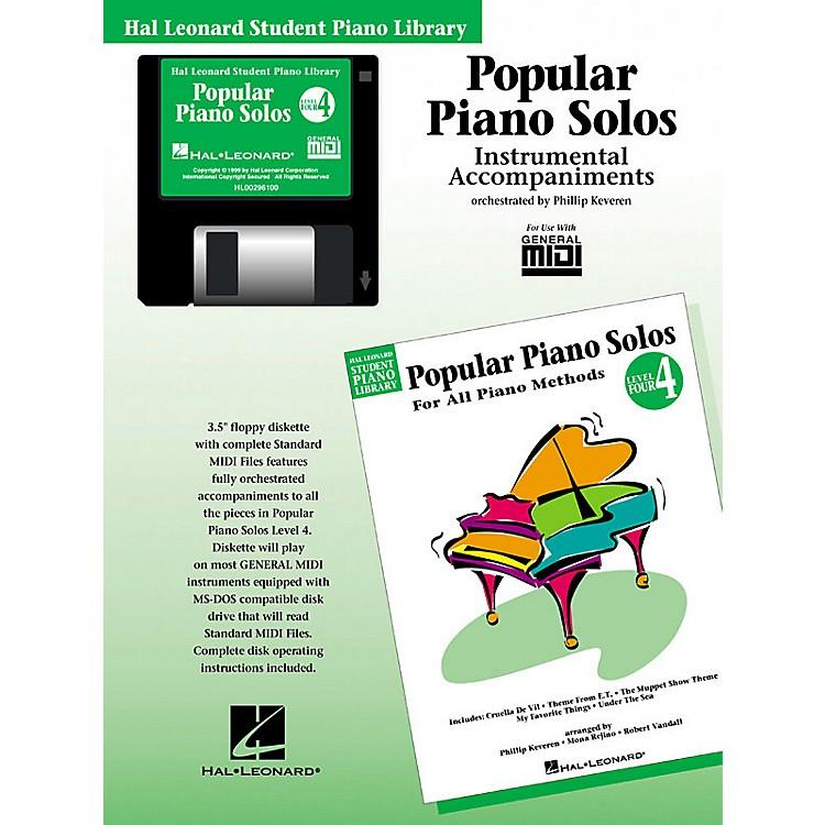 Hal LeonardPopular Piano Solos - Level 4 - GM Disk Piano Library Series Disk