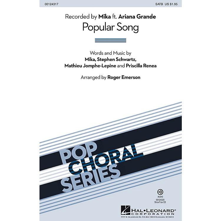 Hal LeonardPopular Song SAB by Mika Arranged by Roger Emerson