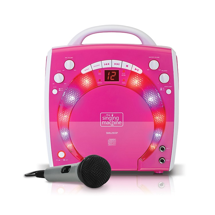 The Singing MachinePortable CD & Graphics Karaoke SystemPink