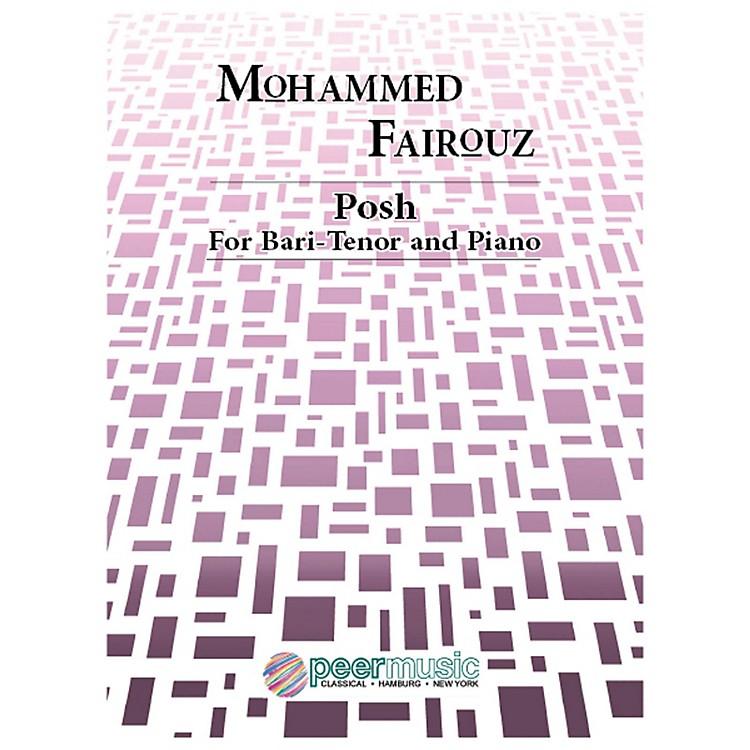 Peer MusicPosh (Bari-Tenor and Piano) Peermusic Classical Series  by Mohammed Fairouz