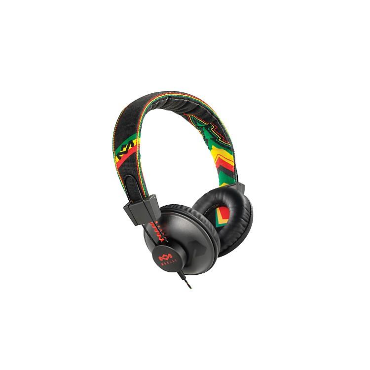 The House of MarleyPositive Vibration - Rasta On-ear Headphone (3-button controller)