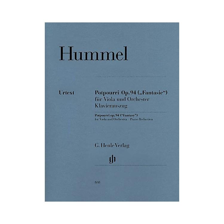 G. Henle VerlagPotpourri Op. 94 (Fantasy) Henle Music Folios Series Softcover