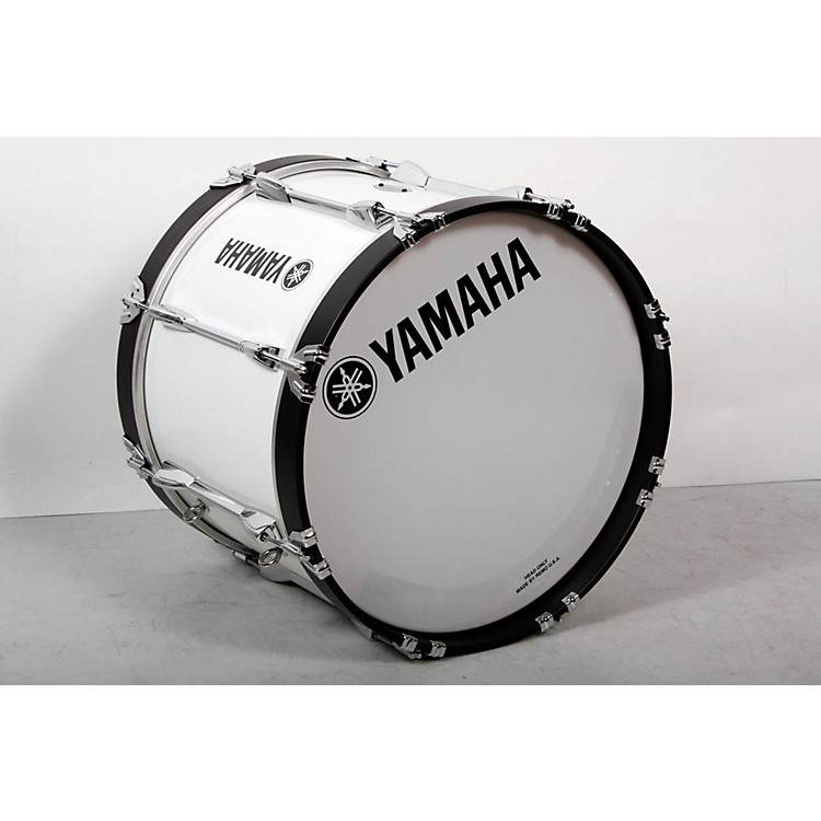 Yamaha Power-Lite Marching Bass Drum White Wrap, 18x13 888365854816