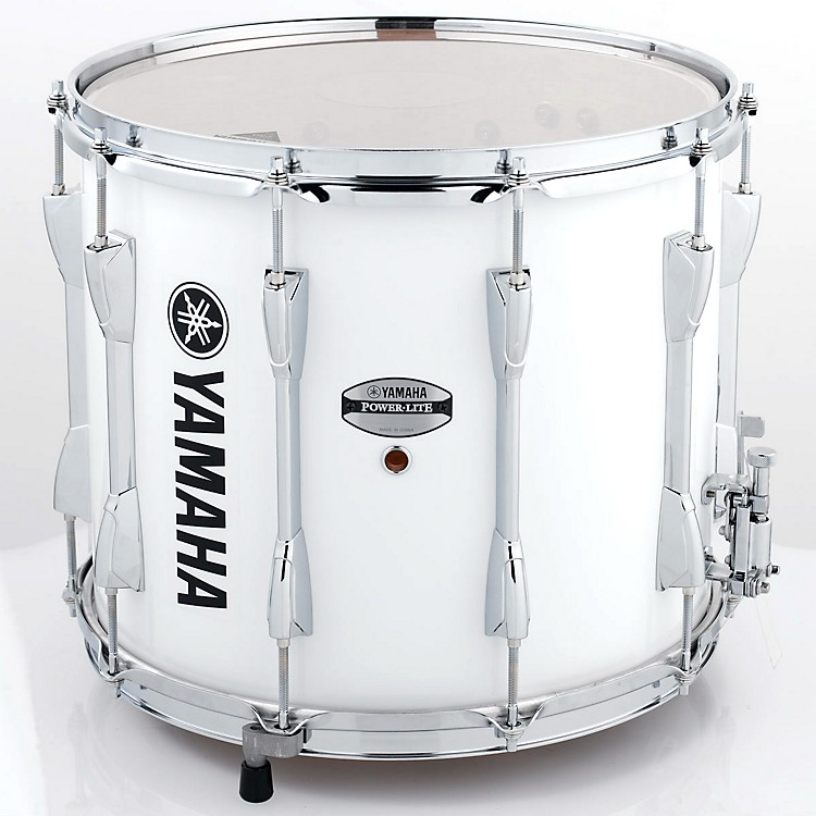 Yamaha Power-Lite Marching Snare Drum White Wrap 14 in.