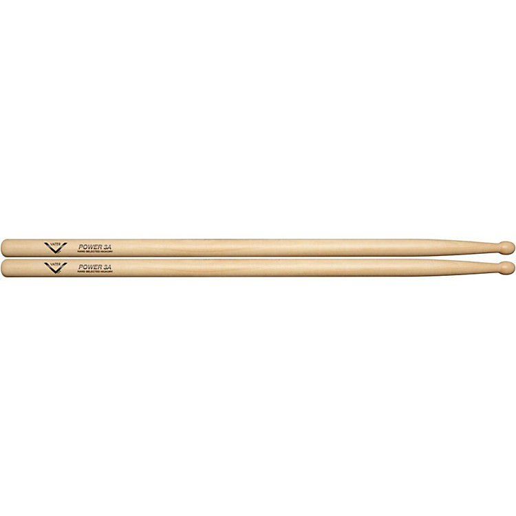 VaterPower Wood Tip Drumsticks - Pair3ANatural