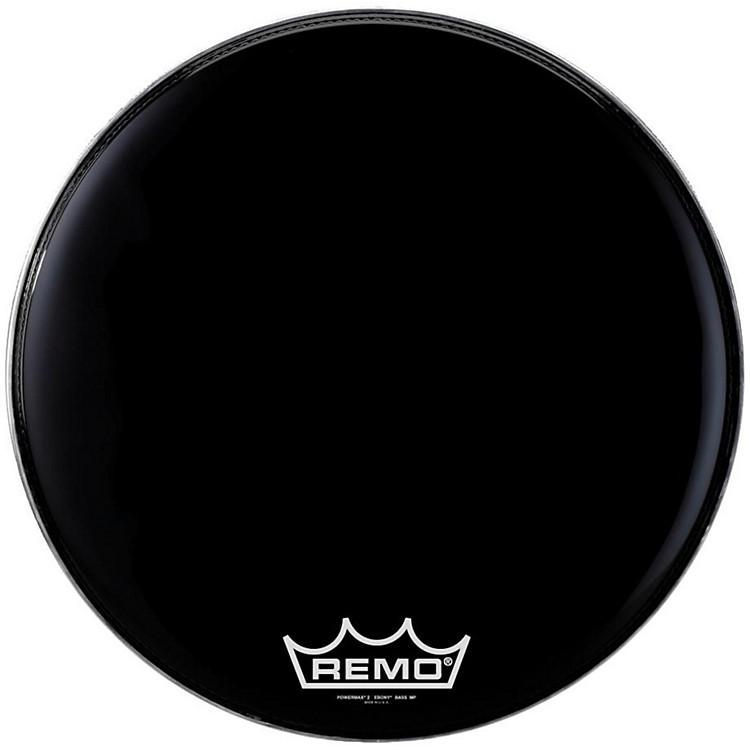 RemoPowermax 2 Marching Bass Drum HeadEbony24 in.