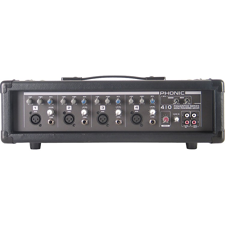 Phonic Powerpod 410 Powered Mixer with Mic and Speaker Cables