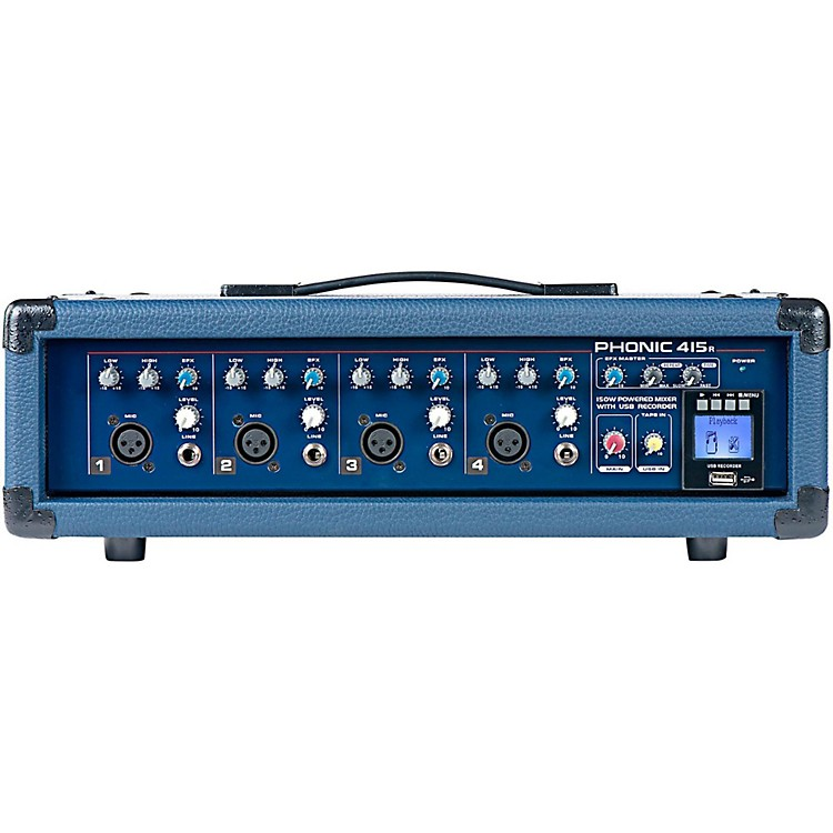 PhonicPowerpod 415R 150W 4-Channel Powered Mixer with USB Recorder