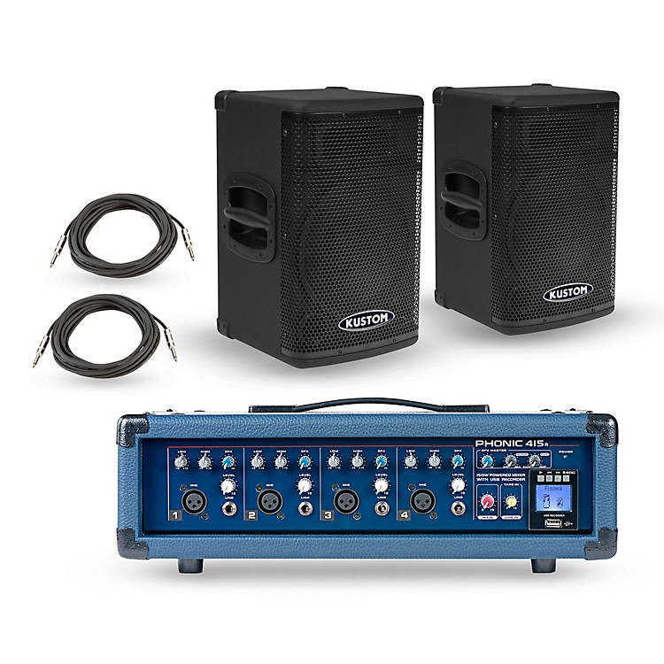 PhonicPowerpod 415R Mixer with KPX Speakers PA Package10