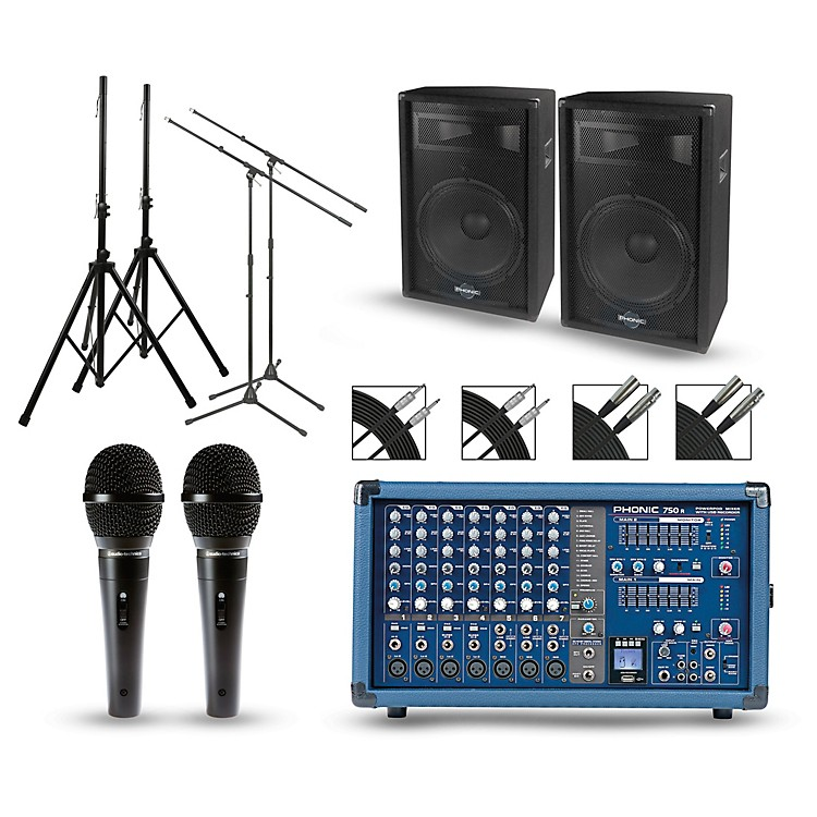 PhonicPowerpod 750R Mixer with S7 Speakers PA Package15