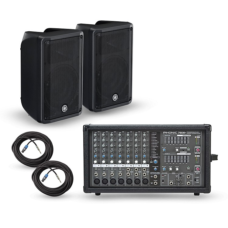 Phonic Powerpod 780 Plus Mixer with CBR Speakers PA Package 10