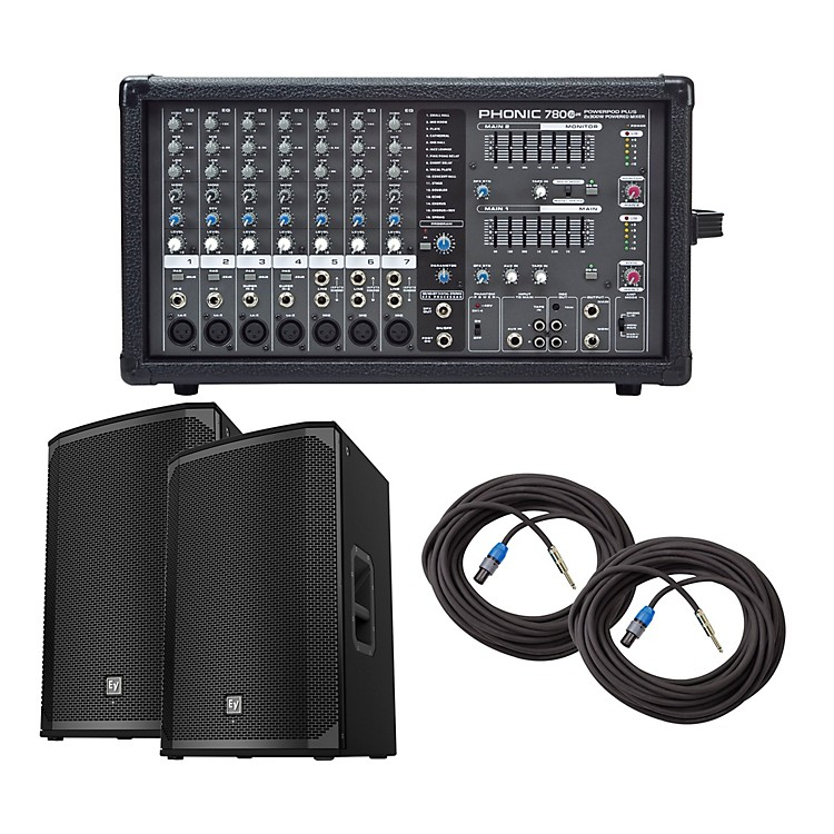 PhonicPowerpod 780 Plus Mixer with EKX Speakers PA Package15