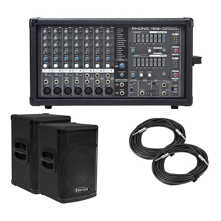 PhonicPowerpod 780 Plus Mixer with KPX Speakers PA Package10