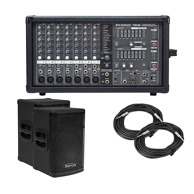 Phonic Powerpod 780 Plus Mixer with KPX Speakers PA Package 15