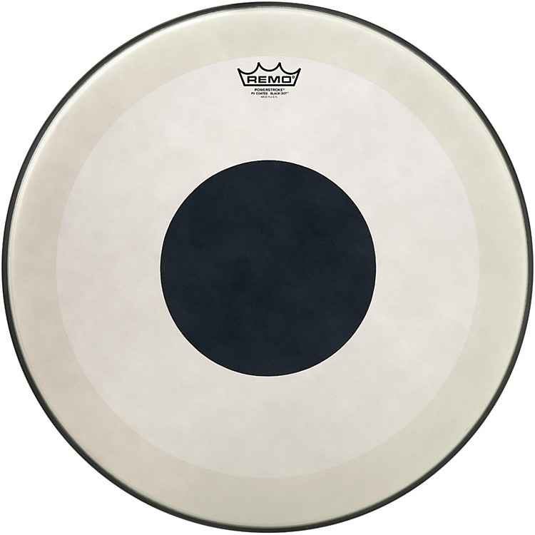 RemoPowerstroke 3 Coated Bass Drum Head with Black Dot22 in.