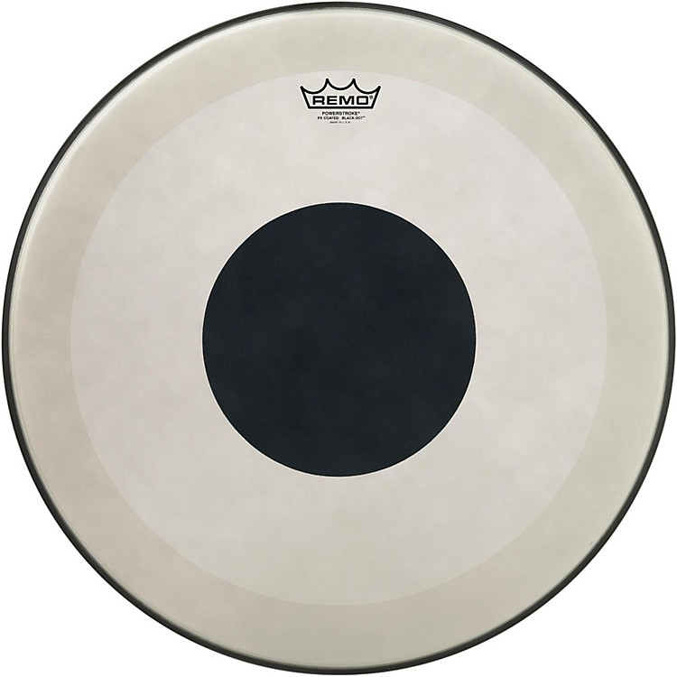 RemoPowerstroke 3 Coated Bass Drum Head with Black Dot24 in.
