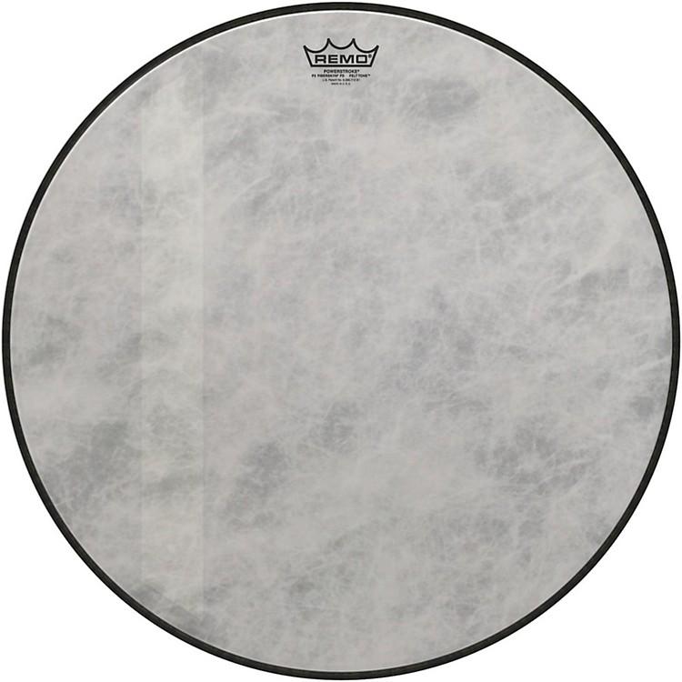 RemoPowerstroke 3 Fiberskyn Diplomat Felt Tone Bass Drum Head18 in.