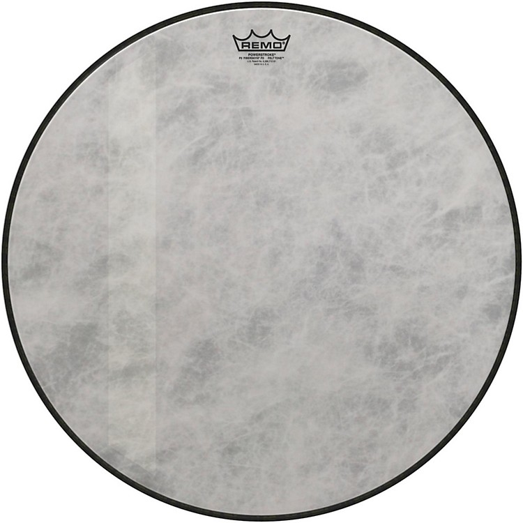 Remo Powerstroke 3 Fiberskyn Diplomat Felt Tone Bass Drum Head 18 in.