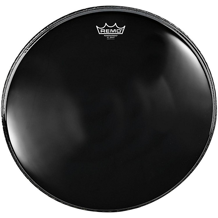 Remo Powerstroke 4 Ebony Batter Bass Drum Head with Impact Patch 24 in.