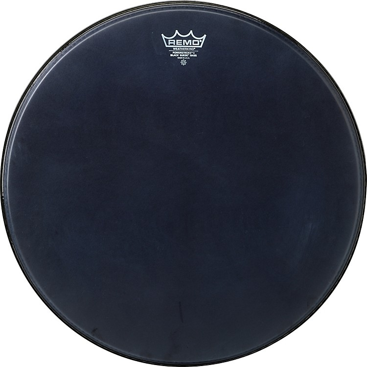 Remo Powerstroke Black Suede Bass Drum Batter Drumhead 24 in.