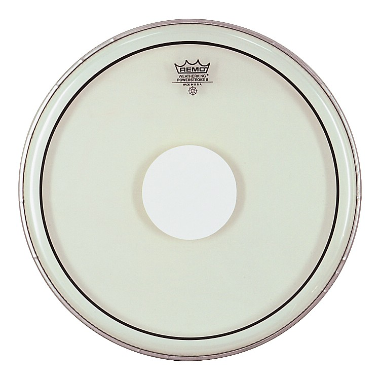 Remo Powerstroke II White Dot Single Ply Snare Batter Head  14 in.