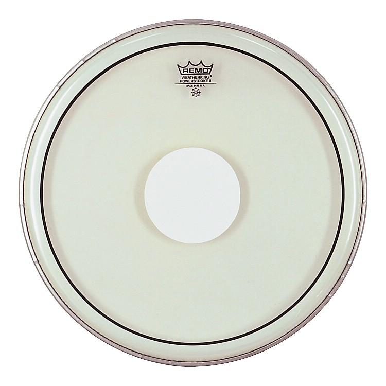 RemoPowerstroke II White Dot Single Ply Snare Batter Head15 in.