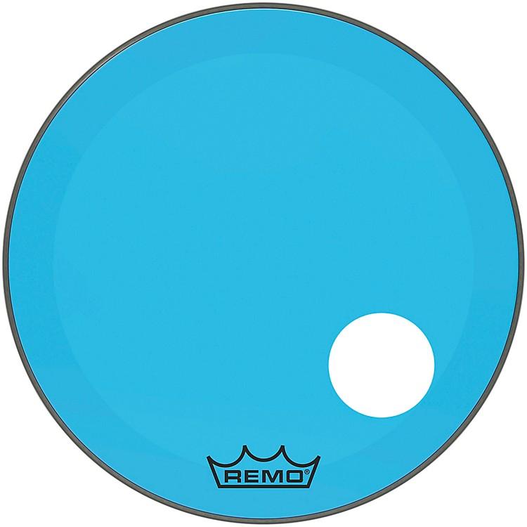 RemoPowerstroke P3 Colortone Blue Resonant Bass Drum Head with 5