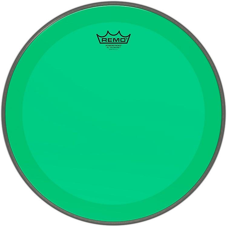 RemoPowerstroke P3 Colortone Green Bass Drum Head16 in.