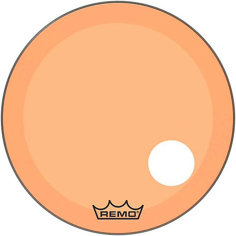 RemoPowerstroke P3 Colortone Orange Resonant Bass Drum Head with 5
