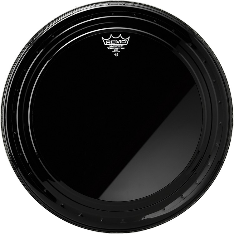 Remo Powerstroke Pro Bass Drumhead Ebony 24 in.
