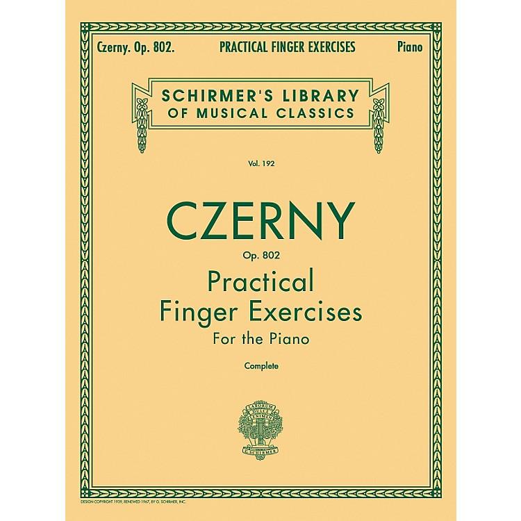 G. SchirmerPractical Finger Exercises Piano Op 802 Complete By Czerny