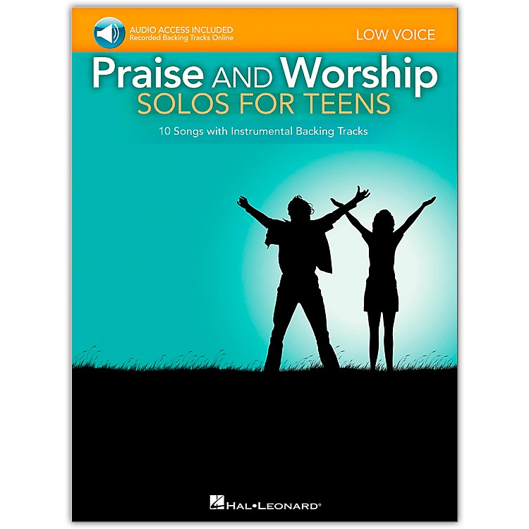 Hal Leonard Praise And Worship Solos For Teens - Low Voice - Book/Audio Acompaniment Backing Tracks