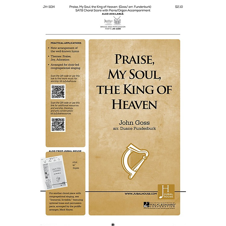 Jubal House PublicationsPraise, My Soul, the King of Heaven SATB arranged by John Goss