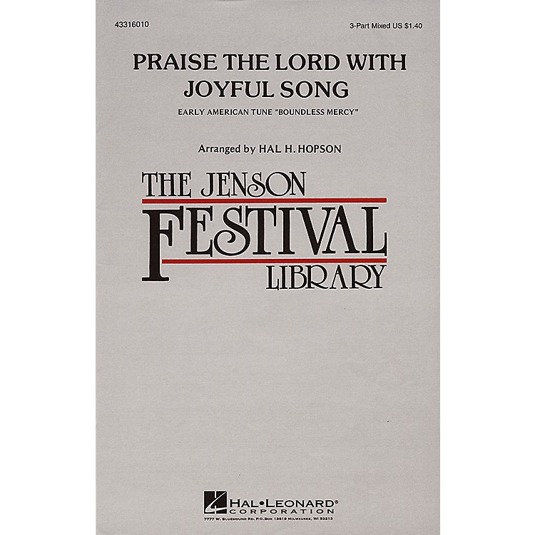Hal LeonardPraise the Lord with Joyful Song 3-Part Mixed arranged by Hal Hopson