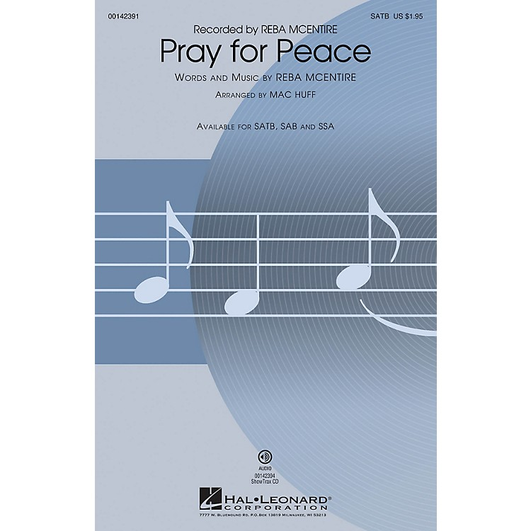 Hal LeonardPray for Peace ShowTrax CD by Reba McEntire Arranged by Mac Huff