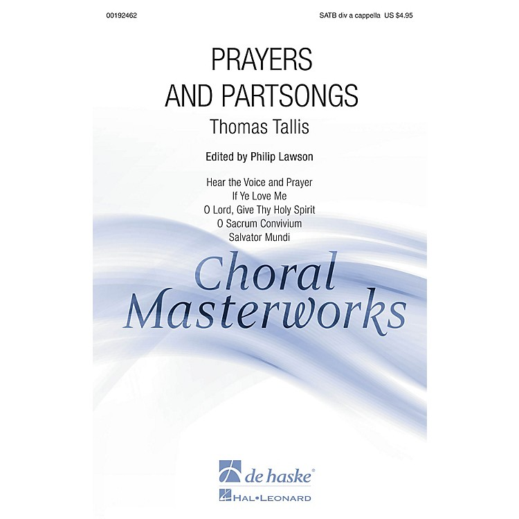 De Haske Music Prayers and Partsongs (Collection) SATB DV A Cappella composed by Thomas Tallis