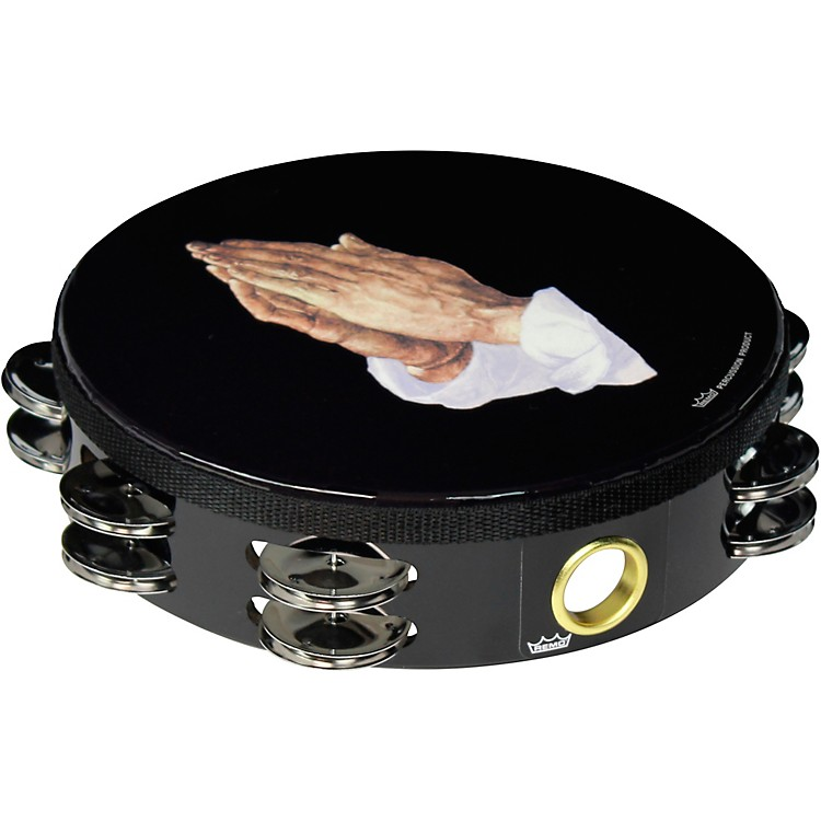 Remo Praying Hands Tambourine 8 in., 16 Jingles