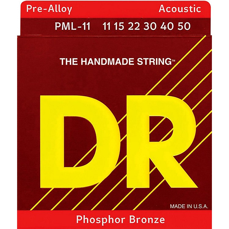 DR Strings Pre-Alloy Phosphor Bronze Acoustic Guitar Strings Medium Lite