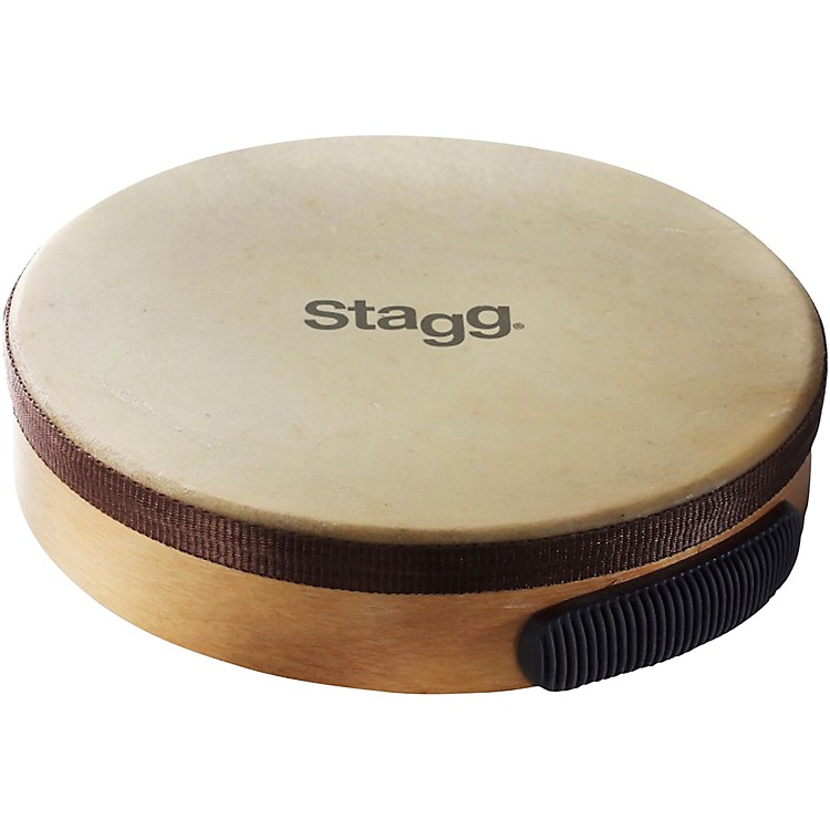 Stagg Pre-tuned Wood Hand Drum 10 in. Natural Finish