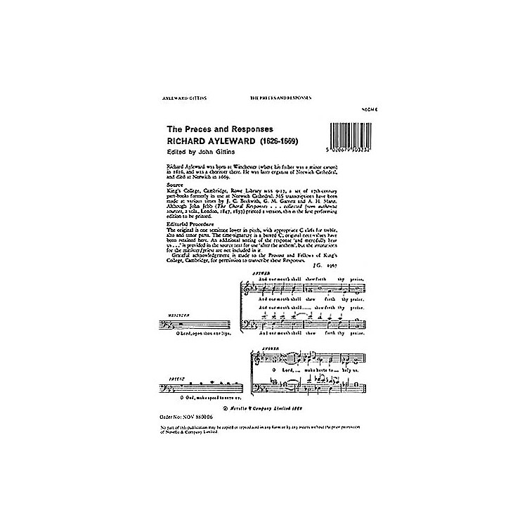 NovelloPreces and Responses SATB Composed by Michael Nicholas Arranged by Richard Ayleward