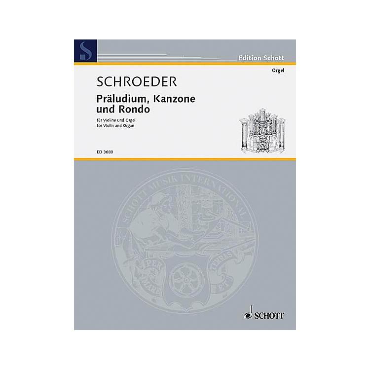 SchottPrelude Canon and Rondo Schott Series Composed by Hermann Schroeder